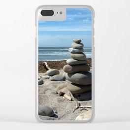 Beach Tower Clear iPhone Case