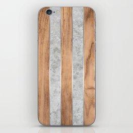 Wood Grain Stripes - Concrete #347 iPhone Skin