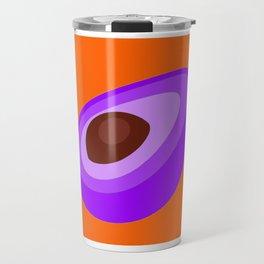 Purple Avocado On Orange Background Art Simple Colourful Decor Gift Idea Travel Mug