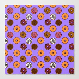 Donut Doodles Canvas Print