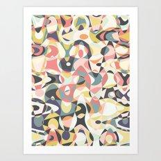 Deco Tumble Art Print