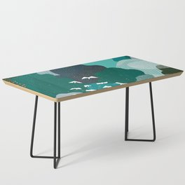 M+M Emerald Forest Bird's Eye View by Friztin Coffee Table