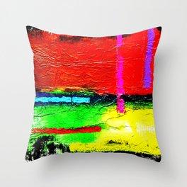 Zips & Fields Throw Pillow