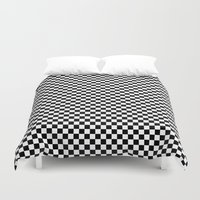 chess Duvet Covers featuring Chess Board by ArtSchool