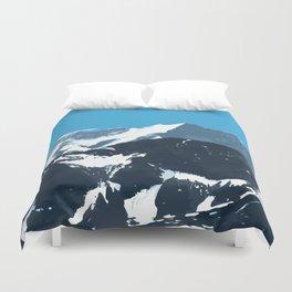 swiss mountains Duvet Cover