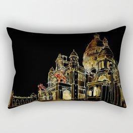 Paris Basilica Sacre Coeur at Night Rectangular Pillow