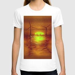 As the Sun goes down (Digital Art) T-shirt