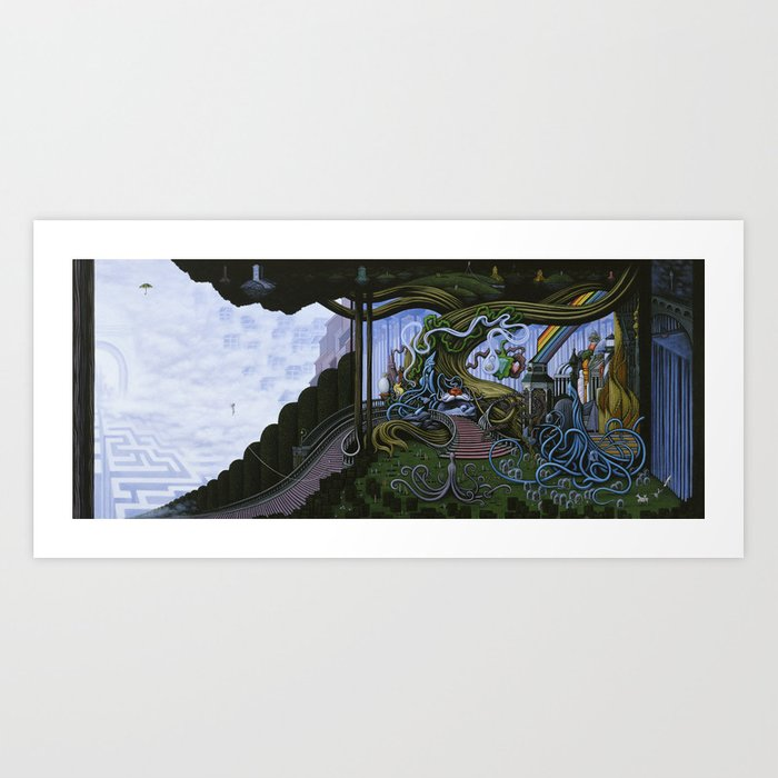 Existing Only In The Light Art Print