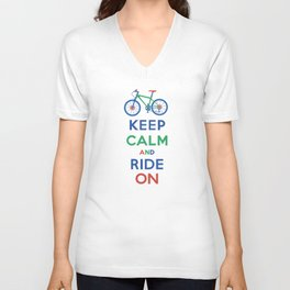 Keep Calm and Ride On Unisex V-Neck