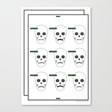 Type Skull Canvas Print