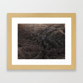 Borrego Badlands Framed Art Print