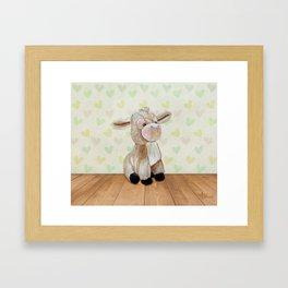 Cuddly Donkey Framed Art Print