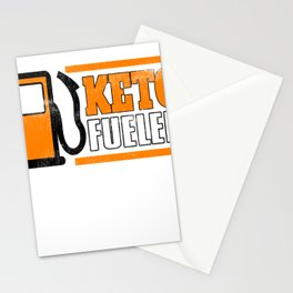 Keto Fueled Keto Diet Healthy Living Low Carb High Fat LCHF Diet Stationery Cards