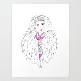 Blonde Highlights  Art Print