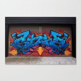 Roller Door Graffiti Canvas Print