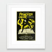 princess bride Framed Art Prints featuring The Princess Bride by Mark Welser