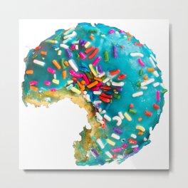 Blue Donut Metal Print