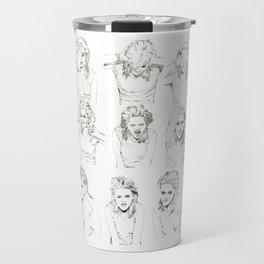 Kristen Stewart Sketches Travel Mug