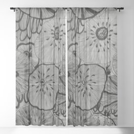 Flower under the sea no.8 Sheer Curtain