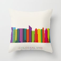 Colossal NYC Throw Pillow