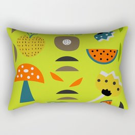 Modern decor with fruits and flowers Rectangular Pillow