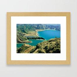 Lagoa do Fogo Framed Art Print