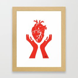 Valuable Heart - Colorful artwork Framed Art Print