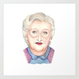 Mrs Doubtfire Art Print