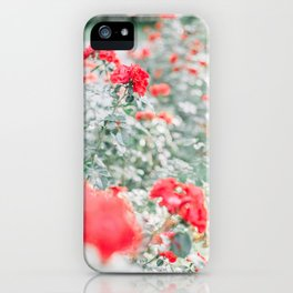 Red Background 05 iPhone Case