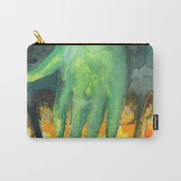 alien eating pizza Carry-All Pouch
