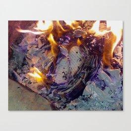 Beautiful Journal Burning Canvas Print
