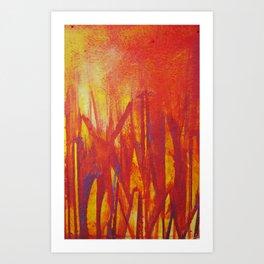 City Fire Art Print