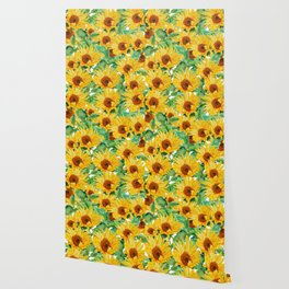 sunflower pattern Wallpaper