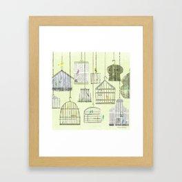 Bird cages Framed Art Print