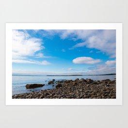 Blue Skies Narragansett Bay Art Print