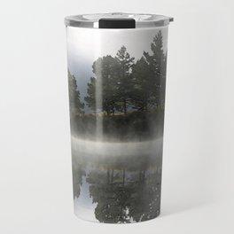 Reflections - trees Loch Affric Travel Mug
