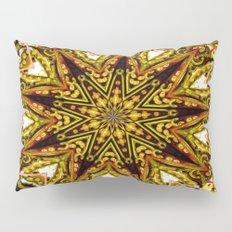 Lovely Healing Mandalas in Brilliant Colors: Gold, red, blue, black, light blue Pillow Sham