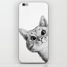 sneaky cat iPhone & iPod Skin