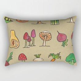 Vegetable Mushrooms food pattern Rectangular Pillow
