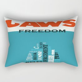 Laws of Freedom Rectangular Pillow