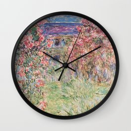 Monet, The House Among The Roses, 1917-1919 Wall Clock
