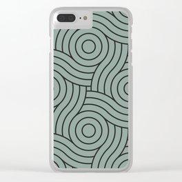 Circle Swirl Pattern Valspar America Sea Green - Green Water - Zinc Blue Clear iPhone Case