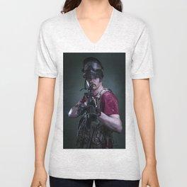 Paintball Soldier Unisex V-Neck