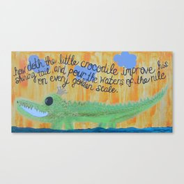 little crocodile Canvas Print