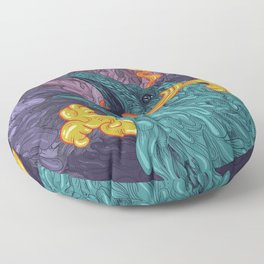 Water Crow Floor Pillow