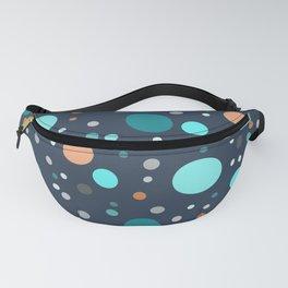 Blue oval pattern Fanny Pack