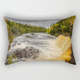 TAHQUAMENON FALLS AUTUMN PHOTO - MICHIGAN UPPER PENINSULA FALL IMAGE - LANDSCAPE PHOTOGRAPHY Rectangular Pillow