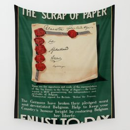 Vintage poster - The Scrap of Paper Wall Tapestry