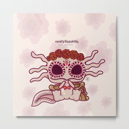 Kawaii Axolotl Metal Print