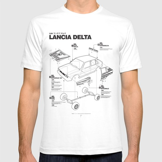 Lancia Delta History Model Kit in the WRC T-shirt